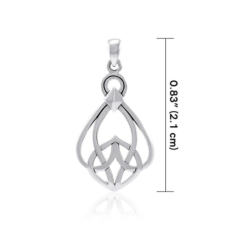 Modern Celtic Knot Sterling Silver Pendant TPD3963