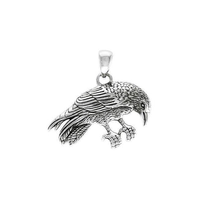 Ted Andrews Crow Silver Pendant TPD3987 Pendant