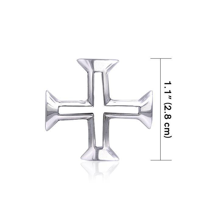Greek Cross Silver Pendant TPD406
