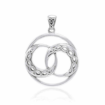 Mickie Mueller Celtic Crescent Moon Sterling Silver Pendant TPD4073