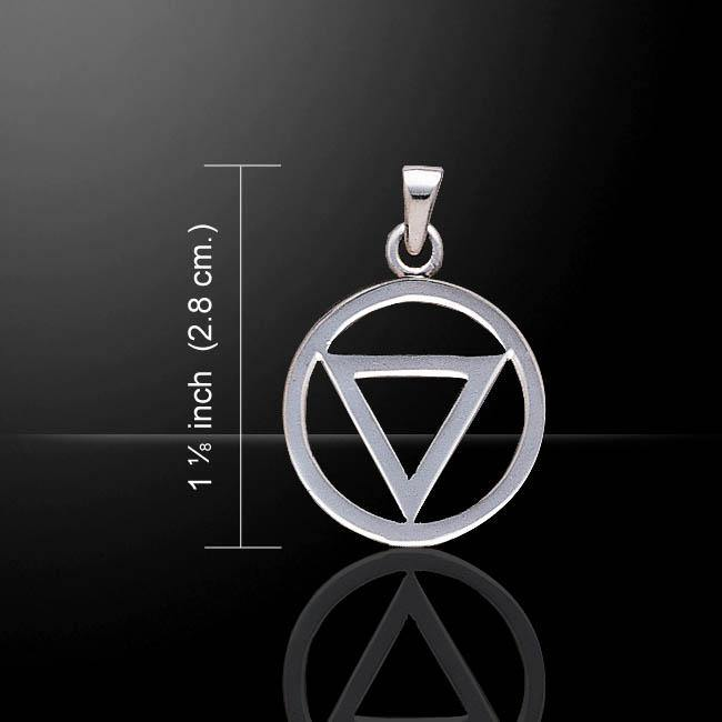 Power Triangle Silver Pendant TPD420