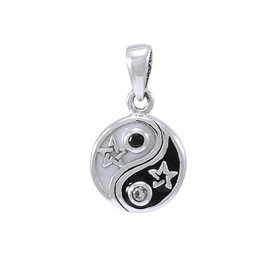 Yin Yang The Star Sterling Silver Pendant TPD4274
