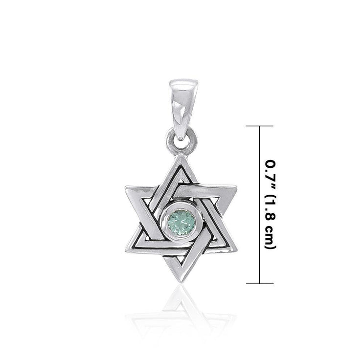 Star of David Pendant with Gem TPD4298