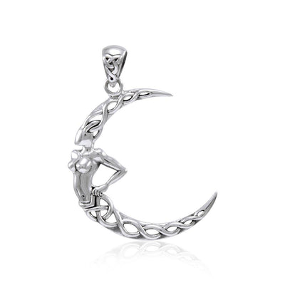 Celtic Knot Moon Goddess Pendant TPD4322
