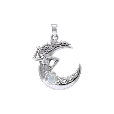 Celtic Knot Moon Goddess Pendant TPD4323