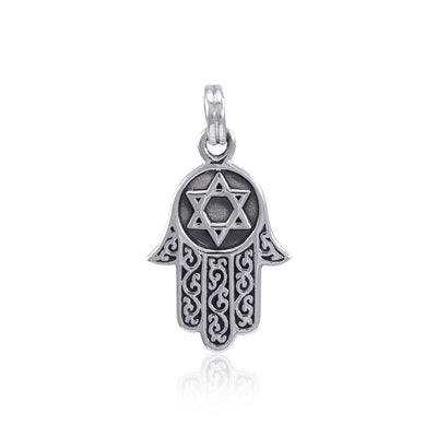 Hamsa with Star of David Pendant TPD4371