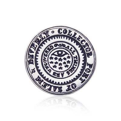 Port of Salem and Beverly Silver Coin TPD4429 Pendant