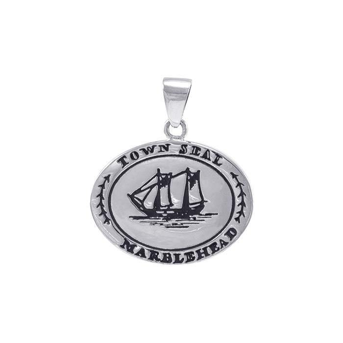 Marblehead Town Seal Silver Pendant TPD4436