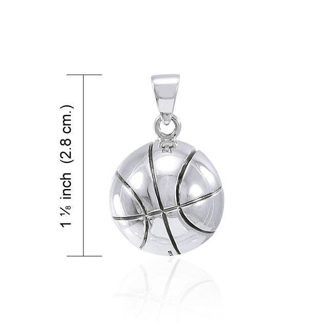 Basketball Silver Pendant TPD4464