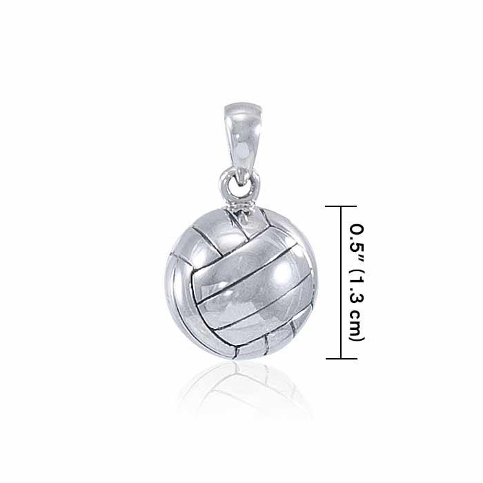 Volleyball Silver Pendant TPD4530