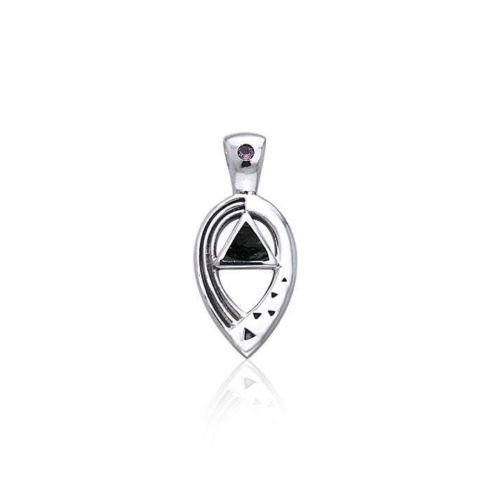 Power Triangle Silver Pendant TPD463