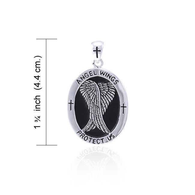 Angel Wings Medallion Pendant TPD4640 Pendant