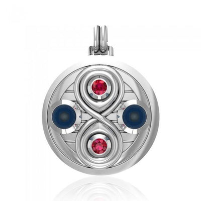 Relationship Sterling Silver Pendant with Gemstone TPD4807