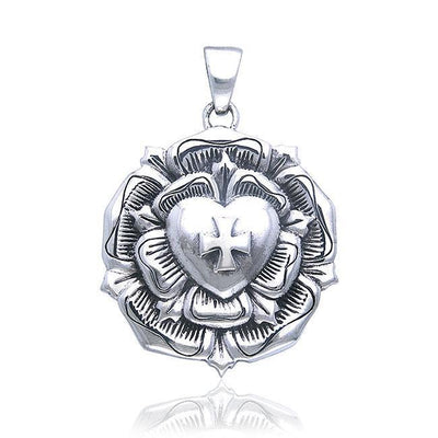 Brigid Ashwood The Rose Celtic Cross Silver Pendant TPD485
