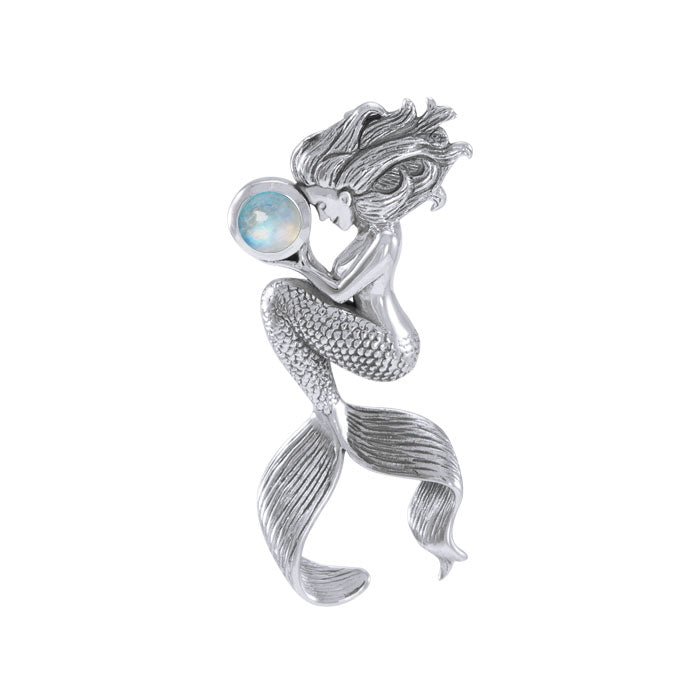 Mermaids Oracle Sterling Silver With Gemstone Pendant TPD4897
