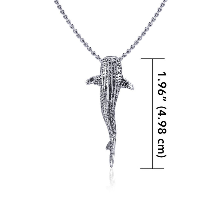 Small Whale Shark Silver with Hidden Bail Pendant TPD5198