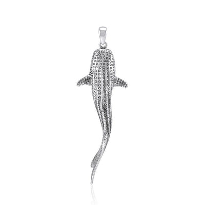 Large Whale Shark Silver Pendant TPD5199