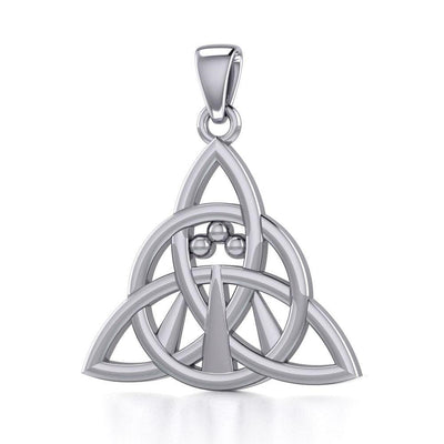 Triquetra with Awen The Three Rays of Light Silver Pendant TPD5306 Pendant