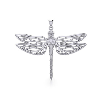 Break Away with the Dragonfly Silver Pendant TPD5383