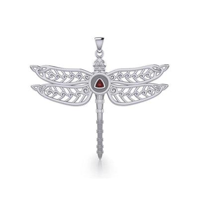 The Celtic Dragonfly with Recovery Silver Pendant TPD5389