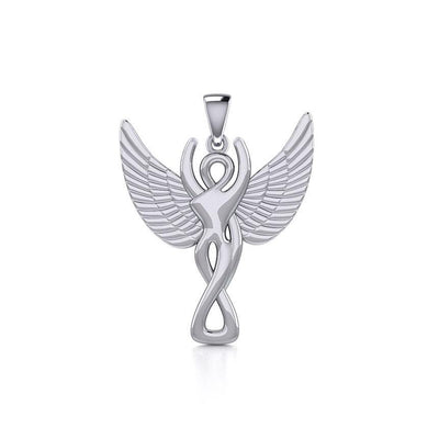 Silver Winged Goddess Pendant TPD5470