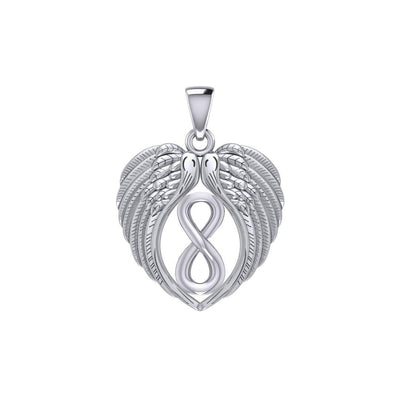 Feel the Tranquil in Angels Wings Silver Pendant with Infinity TPD5479 Pendant