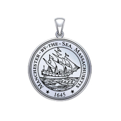 Manchester By The Sea Sterling Silver Pendant Medium Version TPD5525