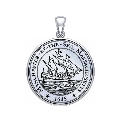 Manchester By The Sea Sterling Silver Pendant Large Version TPD5526
