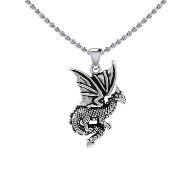 Flying Dragon Silver Pendant TPD5605 Pendant