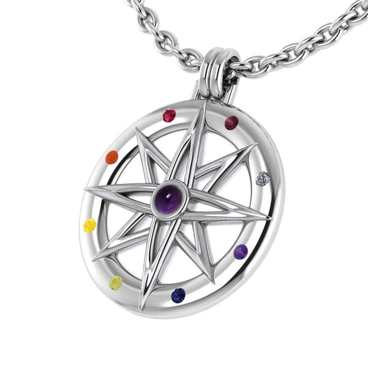 Wander through my compass ~ Sterling Silver Pendant Jewelry and gemstone TPD683 - Peter Stone Wholesale