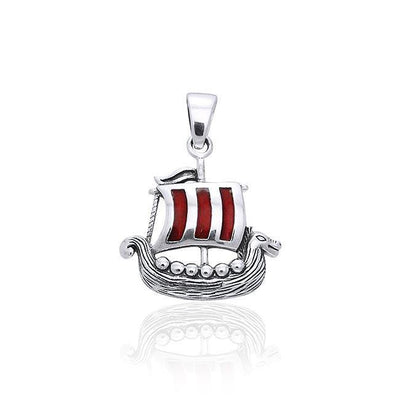 Viking Ship Silver Pendant TPD853
