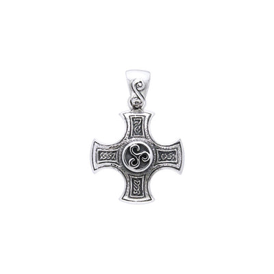 Celtic Cross of Harmony Silver Pendant TPD961