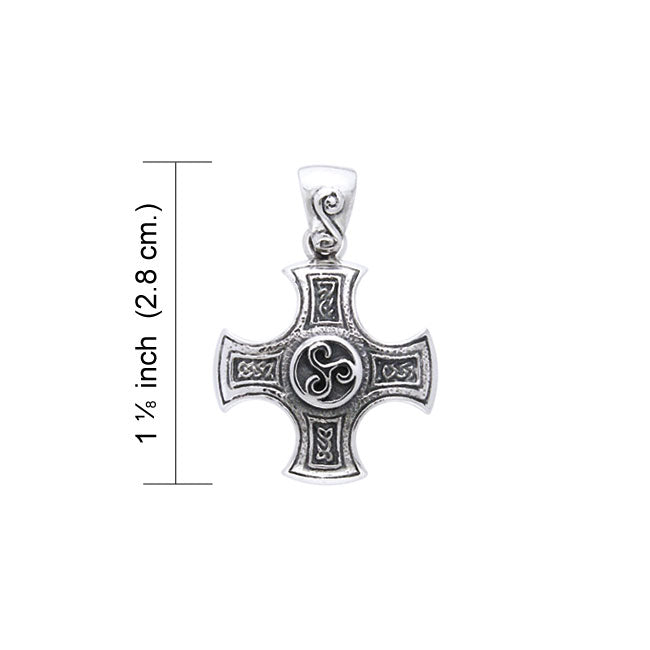 Celtic Cross of Harmony Silver Pendant TPD961 Pendant