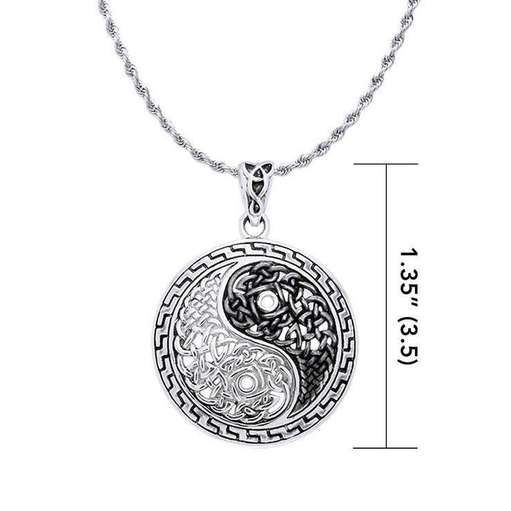 Heal and balance ~ Celtic Knotwork Yin Yang Pendant Jewelry TPD985 Pendant