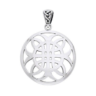 Celtic Knotwork Cross of Harmony Silver Pendant TPD991