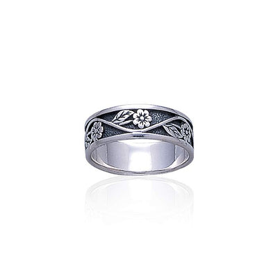 Silver Flower Ring TR015