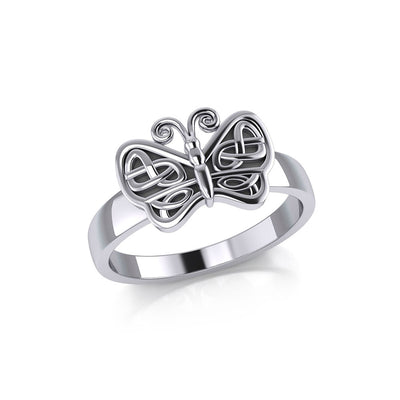 Celtic Knots Silver Butterfly Ring TR1023