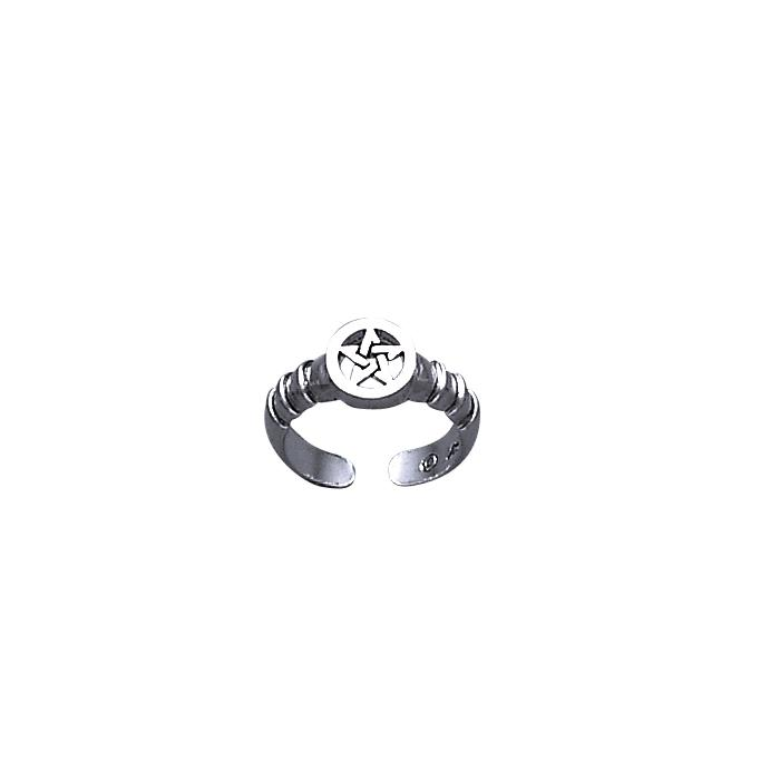 Silver The Star Toe Ring TR1201