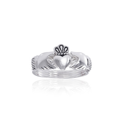 Irish Claddagh Silver Puzzle Ring TR1219