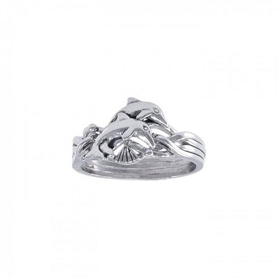Dolphin Puzzle Ring TR1338