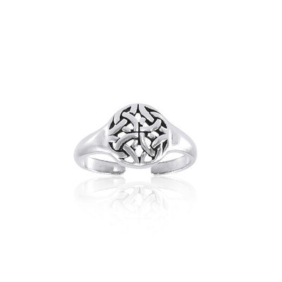 Celtic Knotwork Silver Toe Ring TR1466