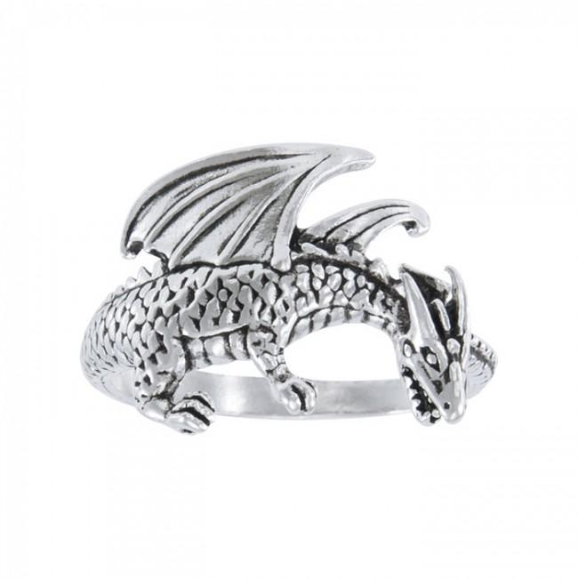 Winged Dragon Silver Ring TR1599