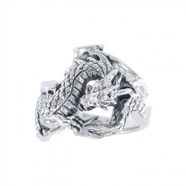 Fantasy Dragon Silver Ring TR1600 Ring