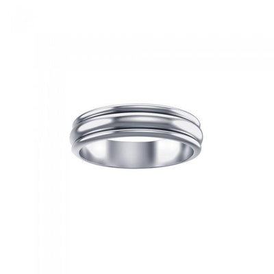 Silver Wedding Spinner Band Ring TR1660