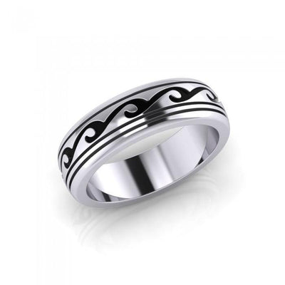 Waves Spinner Ring TR1678