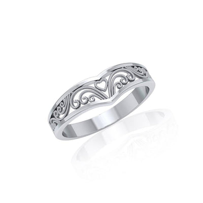 Silver Filigree Millennium Ring TR168
