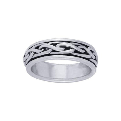Celtic Knotwork Spinner Ring TR1693