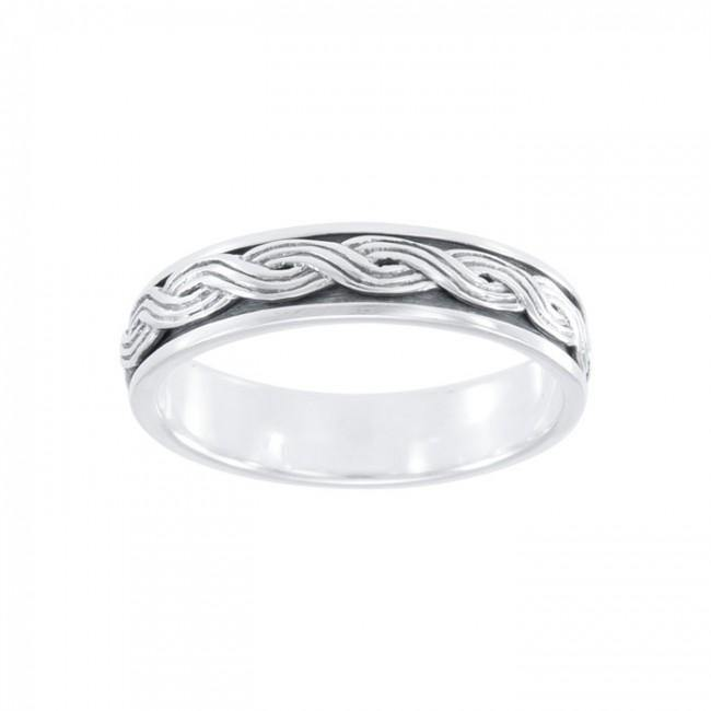 A perpetual endless connection ~ Celtic Knotwork Sterling Silver Spinner Ring. TR1696 Ring