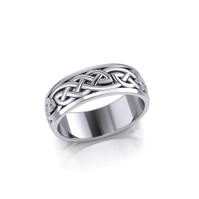 Mirror the Celtic lifetime tradition ~ Celtic Knotwork Sterling Silver Ring TR1757
