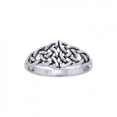 Celtic Knotwork Silver Ring TR1764